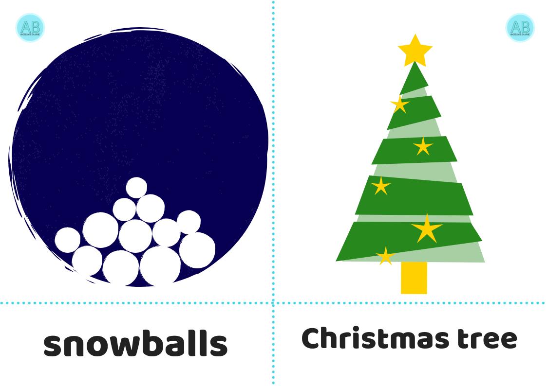 Flashcards Karty obrazkowe Boże Narodzenie Christmas Flashcards