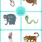 Wild animals mini flashcards + 10 prostych pomysłów na gry i zabawy