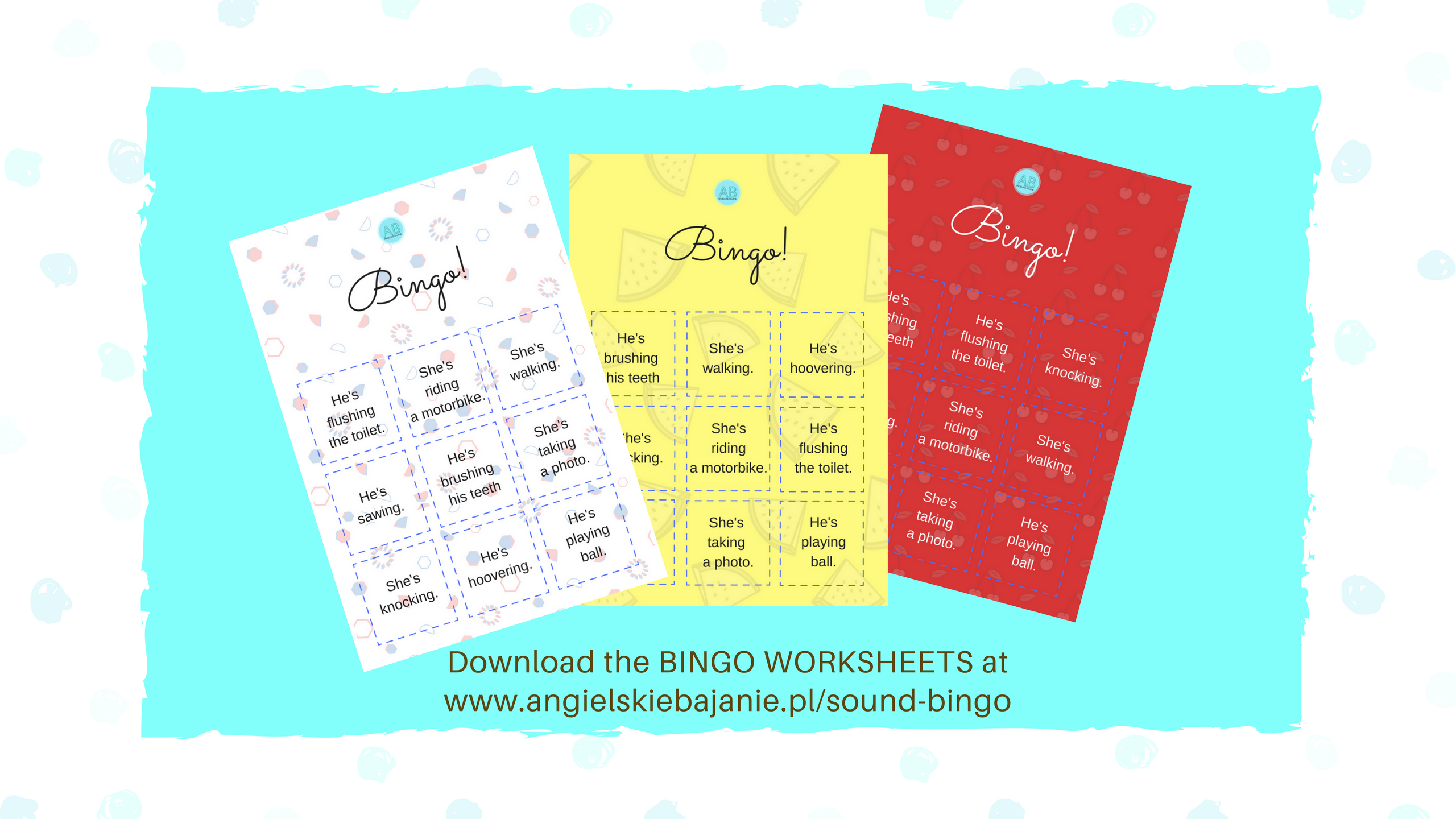 Bingo worksheet