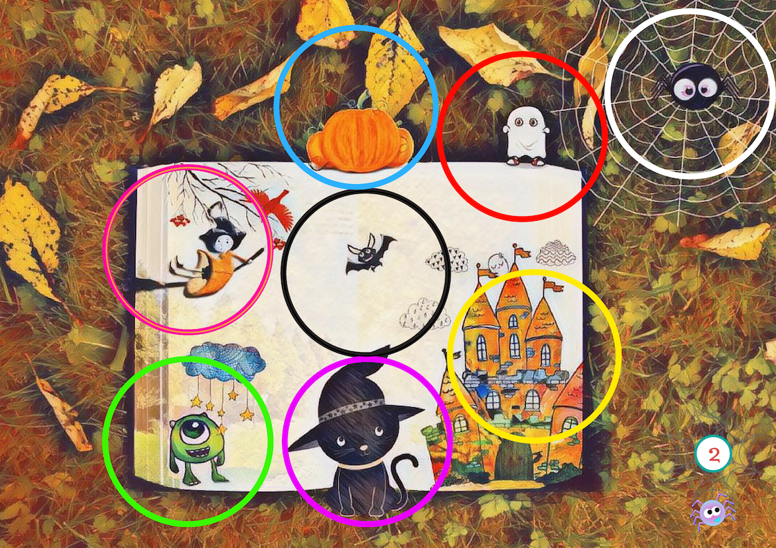Halloween poster colours